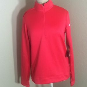 Nike Therma Golf Attire Hot Pink Pullover
